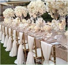 wedding supplies cheap 2018 simple cheap chair sashes chiffon wedding chair cover