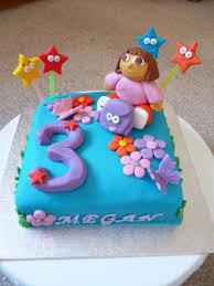 dora the explorer 3rd birthday cake cakecentral com