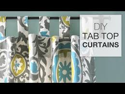 Tab Curtains Pattern Diy Tab Top Curtains