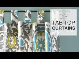 Tab Top Button Curtains Diy Tab Top Curtains
