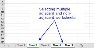 excel shortcuts to select rows columns or worksheets