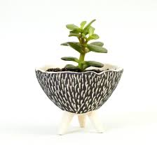 black pottery clay ceramic pot plants 2 unique decoration and