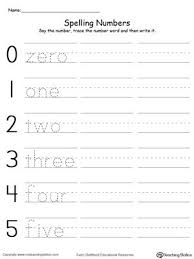 tracing and writing number words 0 5 writing numbers number