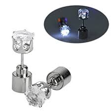 light up earring studs christmas earrings ic iclover 1 pair led earrings