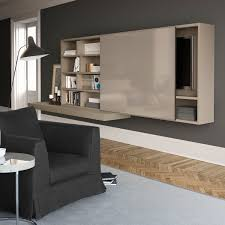 contemporary tv wall unit wooden with built in speaker hi fi