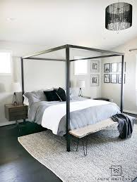 canopy for bedroom master bedroom update steel canopy bed and bedding taryn whiteaker
