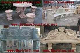 marble bench yuan lee sculpture plant