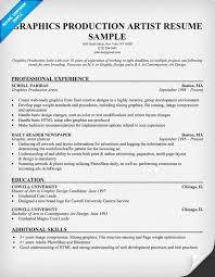 free graphics production artist resume example resumecompanion