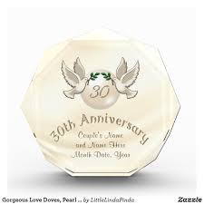 traditional 30th anniversary gift gorgeous doves traditional pearl 30th anniversary gifts for