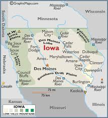 map usa iowa iowa large color map