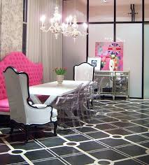 Pink Dining Room Chairs Dining Rooms Hilary White Liv Chic Modern Baroque Pink Dining