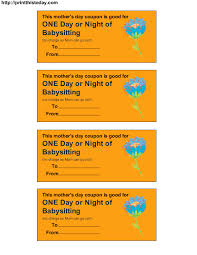 one day or night of babysitting printables pinterest