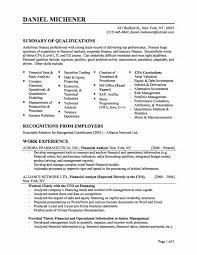 Sap Hana Resume Fascinating Financial Resume 1 8 Amazing Finance Resume Examples