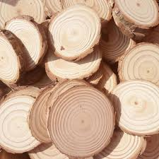 country centerpieces wood log slices discs for diy crafts wedding rustic country party