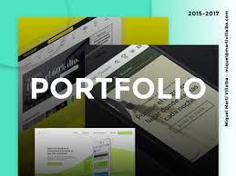 my portfolio cover page by martí villalba dribbble
