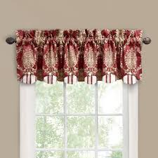 Red Scarf Valance Interior Jc Penny Curtains With Waverly Valances