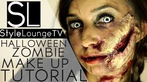 halloween make up tutorial walking dead zombie diy youtube