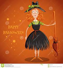 halloween invitation background a witch flying on a broomstick happy halloween postcard poster