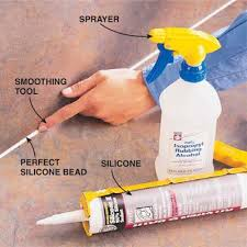 diy tip of the day to smooth silicone caulk just lay down a nice
