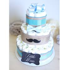 mustache diaper cake for baby boy little man baby shower