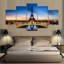 paris eefiel tower 5 panel canvas wall art home decor u2013 decal labs