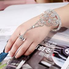 ring cuff bracelet images New round circle hand harness chain slave bracelets full jpg