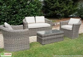 canapé de jardin en résine tressée salon resine tressee mobilier de jardin maison boncolac