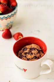 minute eggless peanut butter chocolate chip mug cake