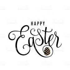 vector illustration of happy easter greeting template stock vector