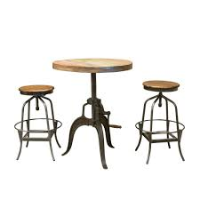 kitchen 3 piece dinette set pub style dining sets small
