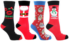 mens christmas socks mens christmas socks uk 6 11 eu 39 45 4 pack multi co uk