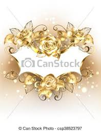 gold roses gold banner with gold roses gold jewelry banner of brocade eps