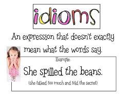 idioms mrs warner u0027s 4th grade classroom