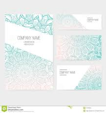 Invitation Cards Business Presentation Vector Kit Stock Vector Image 47499055