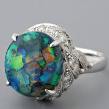 black opal engagement rings fay cullen archives rings vintage black opal and ring