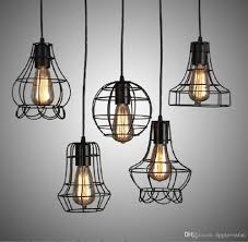 discount iron ancient chandeliers artistic lamps abcde five kinds