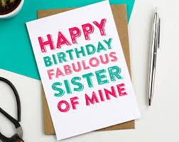 funny sister card etsy