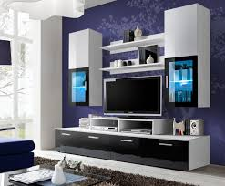T V Stands With Cabinet Doors Impeccable Modular Entertainment Unit Introducing Attached Wall