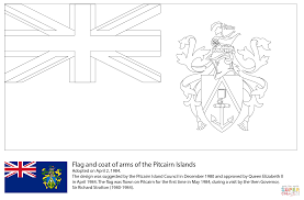 flag of the pitcairn islands coloring page free printable