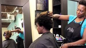 what haircut to ask the barber tapered twa tapered cut on natural hair with good curl styling foam youtube