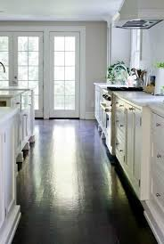 white shaker kitchen cabinets wood floors espresso wood floors hardwood floors hardwood