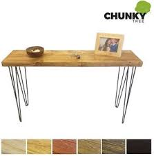 Hairpin Leg Console Table Console Table Rustic Chunky Side Table 12x2 Dressing Table Hairpin