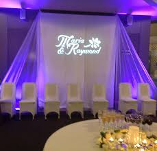 wedding backdrop name wedding reception backdrop with and groom s names in lighting