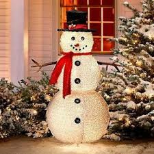 lighted 4 foot frosty snowman yard display