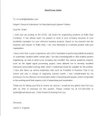 cover letter in an email lovely email cover letter job
