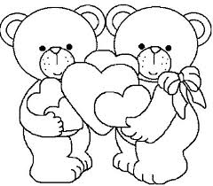 coloring pages kids print coloring valentine bears