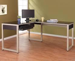 Modern Glass Desks For Home Office by Modern White Wooden Elegant Computer Desk Computer Desk With