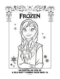 disney frozen free printable coloring anna mama likes