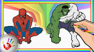 spiderman hulk coloring pages kids color spiderman