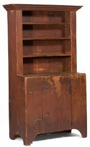 new england pine step back cupboard primitive furniture